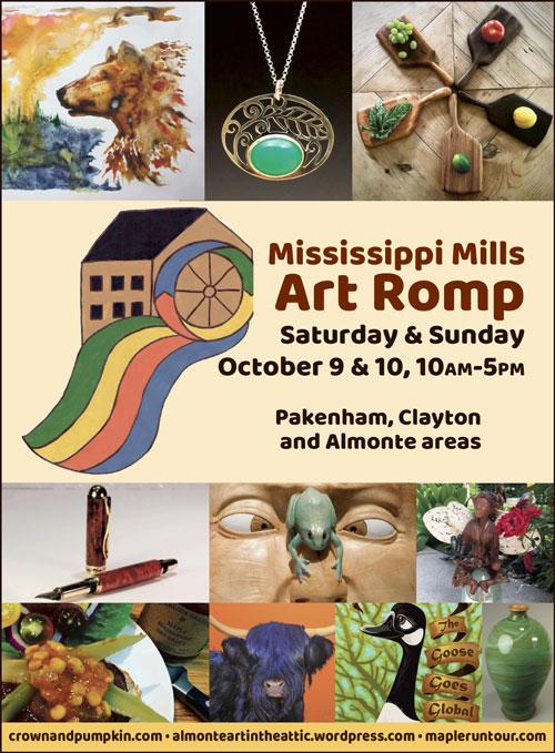Poster for the Mississippi Mills Art Romp
